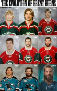 Sasquatch has gradually eaten Brent Burns since his entry to the NHL.