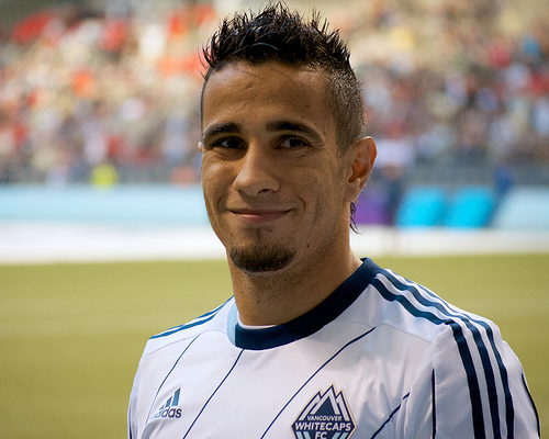 Vancouver Whitecaps FC forward Camilo is the ultimate love-him-or-hate-him kind of player. Whichever side of the fence you're on, you can't deny the game is more interesting with him on the pitch. Photo by Jason Kurylo for Pucked in the head.