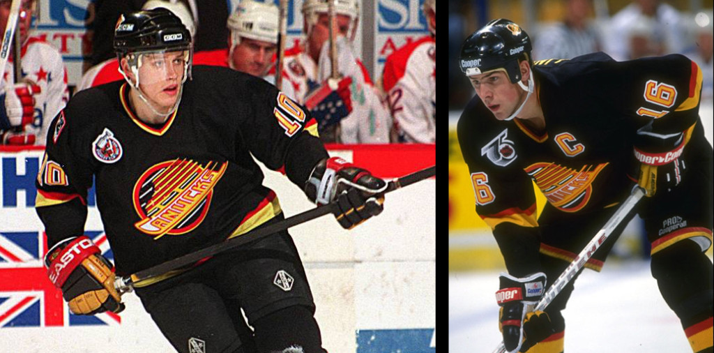 Pavel Bure and Trevor Linden wore spaghetti well. That doesn't mean others should be subjected to it. Photos garnered from various interweb searches.