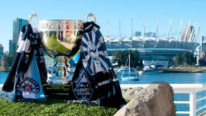 The Cascadia Cup looks upon BC Place, its home for the 2014 MLS season, after Whitecaps FC won the trophy for consistent performance up and down the northwest corridor last season. Photo by Jason Kurylo for Pucked in the Head.
