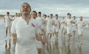 Rowan Atkinson is just one of dozens of comedians who have spoofed Chariots of Fire over the years. He's just the only one to have done it in an official Olympic Opening Ceremony.