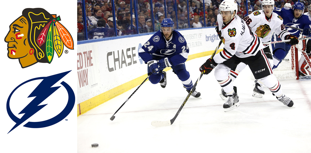 Chicago Blackhawks versus Tampa Bay Lightning in the 2016 Stanley Cup final.