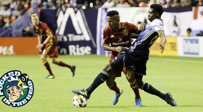 Alphonso Davies can play defense, too.