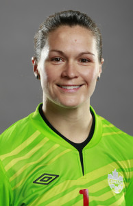 Keeper Erin McLeod in her official Team Canada portrait. Photo courtesy of Soccer Canada.