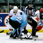 The Abbotsford Heat beat the Milwaukee Admirals for the second game in a row to end a 10-game home stand, winning 2-0 on January 20, 2013. Photo by Jason Kurylo for Pucked in the Head.