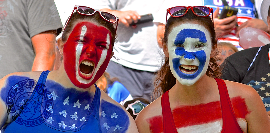 The Americans brought 50,000 of their closest friends to help defeat Nigeria 1-0 at the 2015 FIFA Women's World Cup; they didn't seem to think it was boring or dreary. Photo by Jason Kurylo for Pucked in the Head.