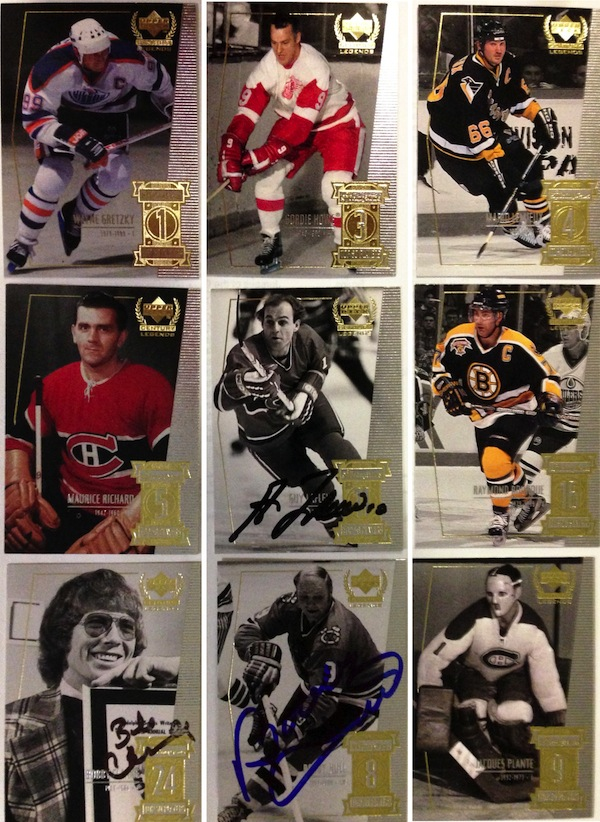 Upper Deck put out the Century Legends set in 1999 after the Sporting News Top 50 Players list was published. I've managed to get a few of the cards signed, but others will forever be pristine as the players have passed away.