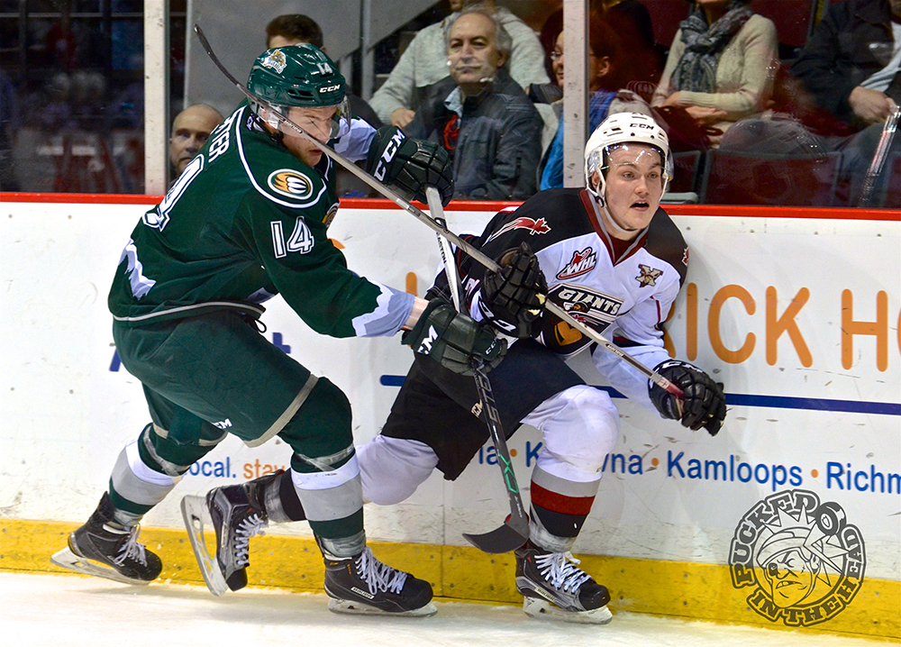 The Vancouver Giants dropped an entertaining 3-2 decision to the Everett Silvertips in the first home game of 2016. Photo by Jason Kurylo for Pucked in the Head.