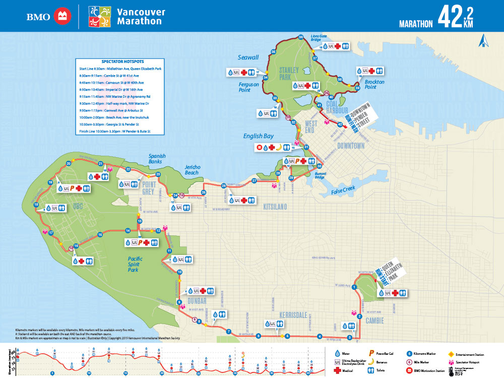 The BMO Vancouver Marathon map. I saw this a full year before the event, and somehow didn't manage to invent an excuse to not run the damned thing.