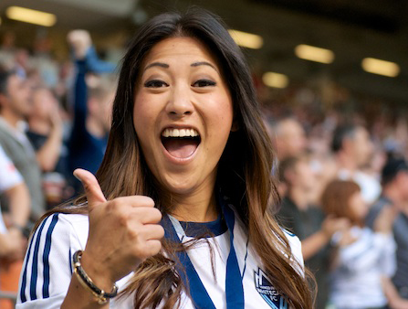 Marie Hui is well-loved as the anthem singer for Whitecaps FC matches at BC Place. Now she'll lend her talents to the Table Hockey Extravaganza. Photo by Jason Kurylo for Pucked in the Head.