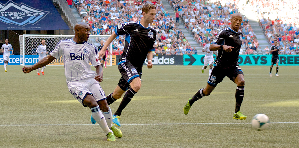 Nigel Reo-Coker played his best game a year ago in a 2-nil win over the San Jose Earthquakes. Photo by Jason Kurylo for Pucked in the Head.