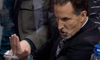 """Hey Ref! Read between the lines, will ya?"" — John Tortorella. Photo scrubbed from the interweb."