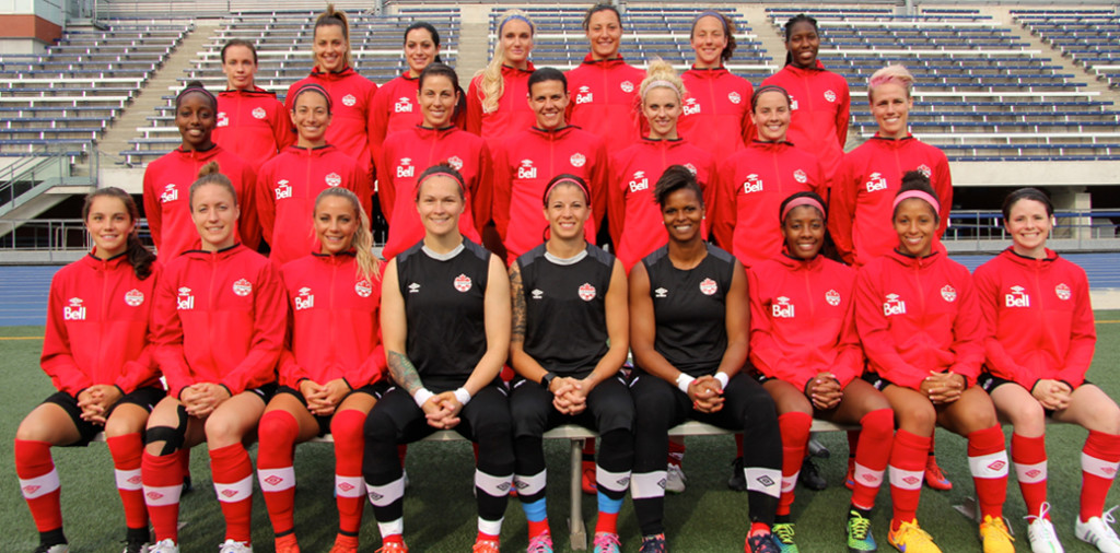 Team Canada, the host team of the 2015 FIFA Women's World Cup. Photo courtesy of Soccer Canada.