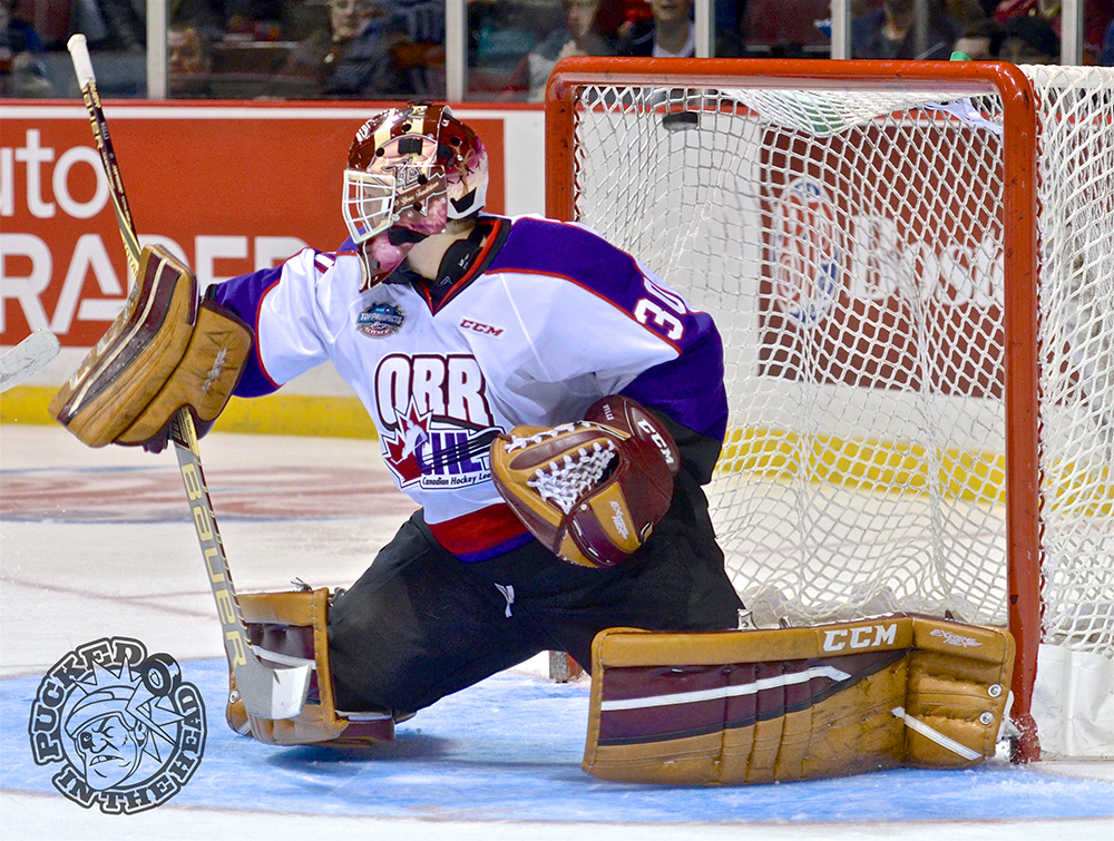 Dylan Wells in net for Team Orr.