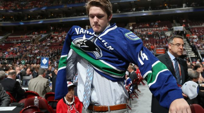 Thatcher Demko put on a Canucks jersey for the first time at the 2014 draft. He's done so far too seldom since.