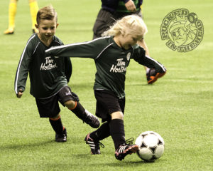 Timbits Soccer players at BC Place at halftime. Photo by Jason Kurylo for Pucked in the Head.