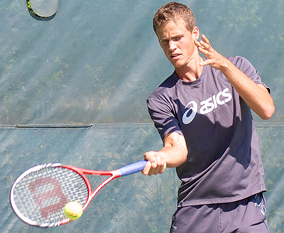 23-year-old Vasek Pospisil is an important part of the Canadian Davis Cup team. He will challenge for the Vancouver Open at Hollyburn Country Club this week. Photo by Jason Kurylo for Pucked in the Head.