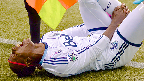 Forward Darren Mattocks was one of the few Whitecaps to resort to blatant simulation on the pitch this season. Photo by Jason Kurylo for Pucked in the Head.