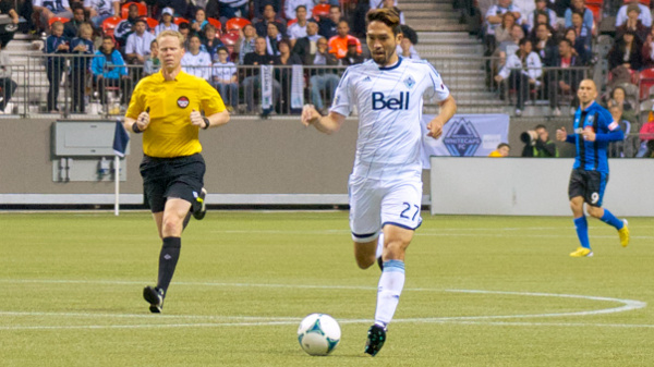 Could Jun Marques Davidson get a look in the midfield with Russell Teibert away on international duty? Only time, and Martin Rennie's pre-game press releases, will tell. Photo by Jason Kurylo for Pucked in the Head.
