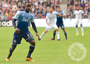 Kekuta Manneh came on in the second half but lacked his explosive speed. Photo by Jason Kurylo for Pucked in the Head.