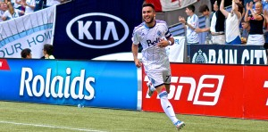 Pedro Morales scored twice en route to a 2-1 victory over Real Salt Lake. Photo by Jason Kurylo for Pucked in the Head.