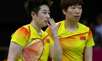 Wang Xiaoli and Yu Yang of China embarrassed the entire Olympic movement when they intentionally threw a match to draw a more favourable quarter final opponent. They were disqualified along with three other teams.