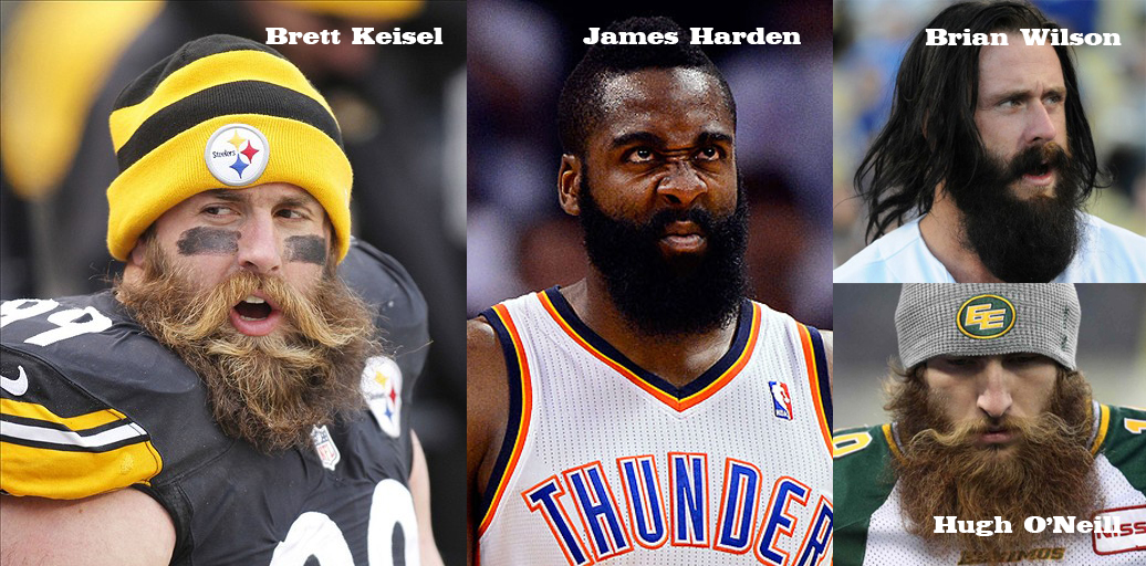 "Somebody please explain this dwarvish voodoo sh!t for me. Photos collected from Google searches for ""stupidly large beards on pro athletes""."