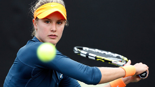 Canadian tennis star Eugenie Bouchard helped earn a berth in the Federation Cup World Group II for 2014. Photo borrowed unceremoniously from the CBC.