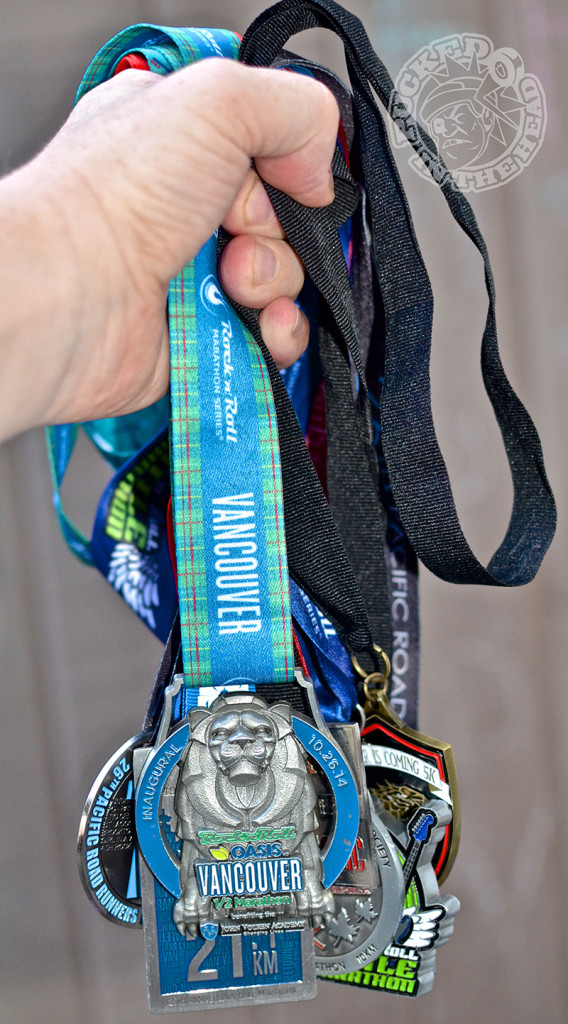 Probably the prettiest medal I've earned so far came from the 2014 Rock n Roll Vancouver half marathon. Photo by Jason Kurylo for Pucked in the Head.