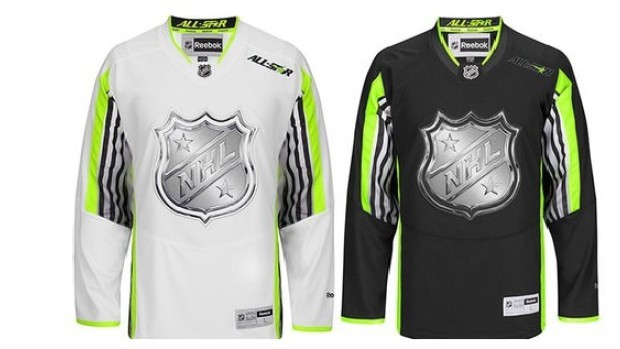BMX hockey tribute jackets? Nope. These are the actual 2015 NHL All-Star Game jerseys. Not even Chris Withers likes them.