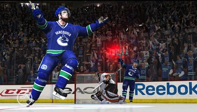 If video games have taught us anything, it's that video games can't teach us anything. EA Sports NHL 13 predicts a 3-0 week for the Vancouver Canucks. Image ripped unapologetically from the internet.
