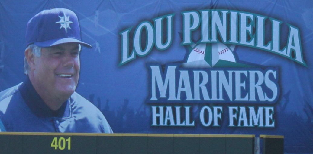 Manager Lou Pinella became the eighth member of the Seattle Mariners Hall of Fame this month. Photo cribbed from the interweb.