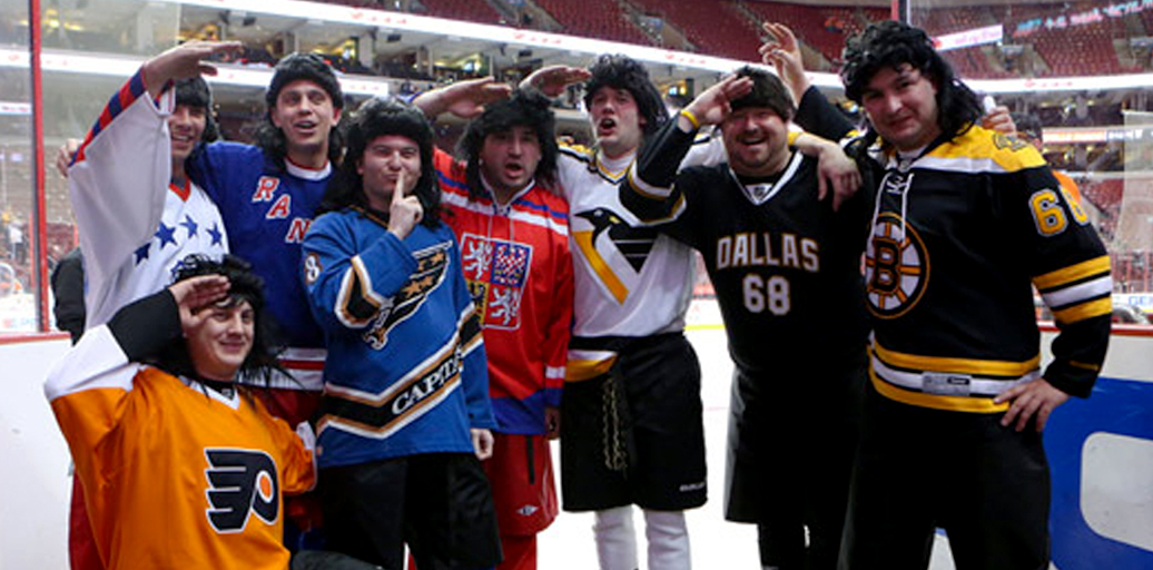 The travelling Jagrs in their mulletted glory (pictured here before New Jersey or Florida were in the mix). Photo pinched from an Ask Jeeves search.