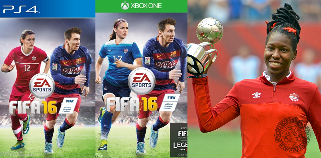 Christine Sinclair and Alex Morgan appear on the cover of EA's new soccer title, which bodes well for the 2015 Young Player Award recipient Kadeisha Buchanan. Photo by Jason Kurylo for Pucked in the Head.